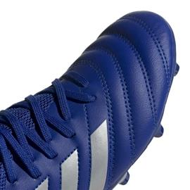 Buty piłkarskie adidas Copa 20.3 Fg Jr EH1810 białe niebieskie 3