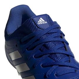 Buty piłkarskie adidas Copa 20.3 Fg Jr EH1810 białe niebieskie 4