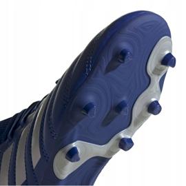 Buty piłkarskie adidas Copa 20.3 Fg Jr EH1810 białe niebieskie 5