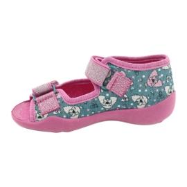 Befado obuwie dziecięce 242P107 srebrny wielokolorowe 2