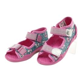 Befado obuwie dziecięce 242P107 srebrny wielokolorowe 3