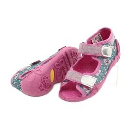 Befado obuwie dziecięce 242P107 srebrny wielokolorowe 4