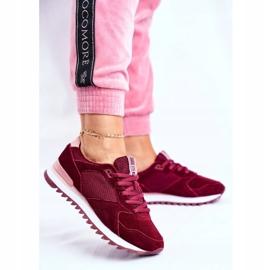 Damskie Sportowe Obuwie Sneakersy Big Star Bordowe GG274522 czerwone 1