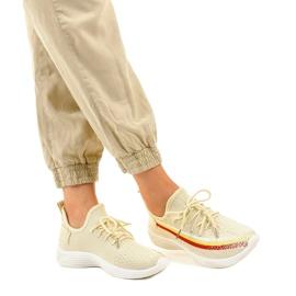 Beżowe obuwie sportowe HB-48 beżowy 1