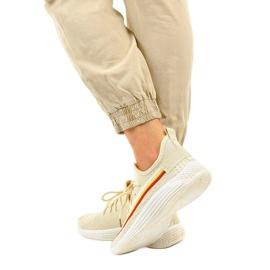 Beżowe obuwie sportowe HB-48 beżowy 3