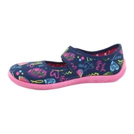 Befado  obuwie dziecięce 945Y431 granatowe różowe wielokolorowe 2