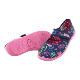 Befado  obuwie dziecięce 945Y431 granatowe różowe wielokolorowe 4