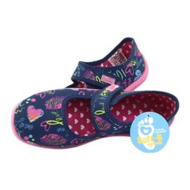 Befado  obuwie dziecięce 945Y431 granatowe różowe wielokolorowe 5