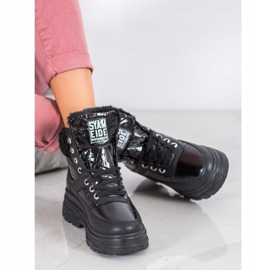 Bella Paris Sneakersy Z Kożuszkiem czarne 6