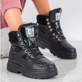 Bella Paris Sneakersy Z Kożuszkiem czarne 1