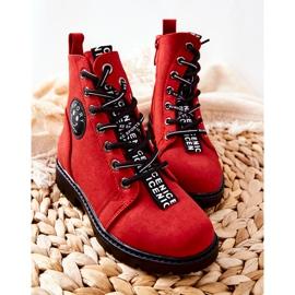 Vinceza Dziecięce Botki Workery Czerwone Mini Aspen 1