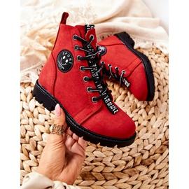 Vinceza Dziecięce Botki Workery Czerwone Mini Aspen 2