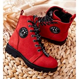 Vinceza Dziecięce Botki Workery Czerwone Mini Aspen 3