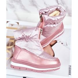 WEESTEP Dziecięce Śniegowce Ocieplane Wełną Różowe Bubbles 2