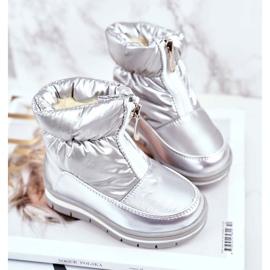 WEESTEP Dziecięce Śniegowce Ocieplane Wełną Srebrne Bubbles srebrny 1