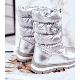 WEESTEP Dziecięce Śniegowce Ocieplane Wełną Srebrne Mumm srebrny 4