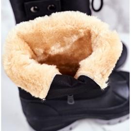 Apawwa Dziecięce Śniegowce Ocieplone Futerkiem Czarne Hot Winter 3