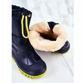 Apawwa Dziecięce Śniegowce Ocieplone Futerkiem Granatowe Hot Winter 3