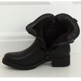 Botki damskie czarne 8912 Black 2