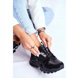 Sportowe Damskie Buty Sneakersy Big Star Czarne GG274981 4