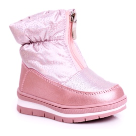 WEESTEP Dziecięce Śniegowce Ocieplane Wełną Różowe Bubbles 4