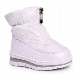 WEESTEP Dziecięce Śniegowce Ocieplane Wełną Białe Bubbles 5