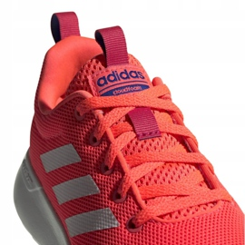 Buty adidas Lite Racer Cln Jr FV9609 różowe 4