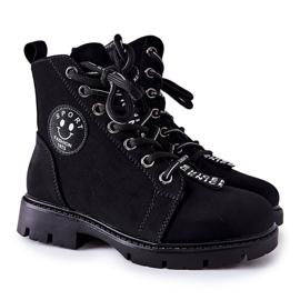 Vinceza Dziecięce Botki Workery Czarne Mini Aspen 4