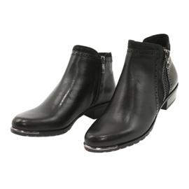 Caprice botki damskie black comb 25403-25 922 czarne 2