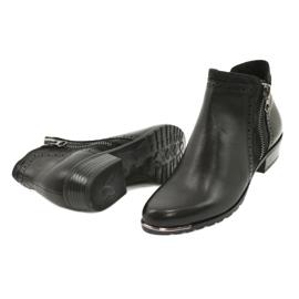 Caprice botki damskie black comb 25403-25 922 czarne 3