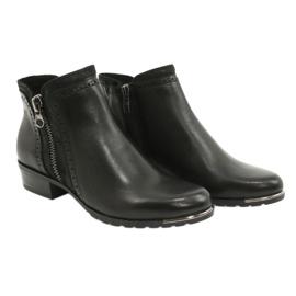 Caprice botki damskie black comb 25403-25 922 czarne 4