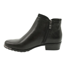 Caprice botki damskie black comb 25403-25 922 czarne 1