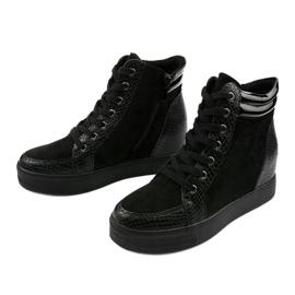 Czarne sneakersy na koturnie Doreala 2