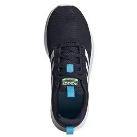 Buty adidas Lite Racer Cln Jr FV9608 czarne granatowe 1