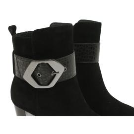 Caprice Czarne Botki z Klamrą 25317-25 025 5