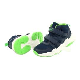Befado obuwie dziecięce  516X049 granatowe zielone 3