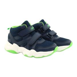 Befado obuwie dziecięce  516X049 granatowe zielone 5