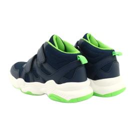 Befado obuwie dziecięce  516Y049 granatowe zielone 4
