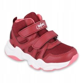 Befado obuwie dziecięce 516Y053 bordowy czerwone 1