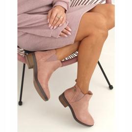 Sztyblety damskie różowe 8B978 Pink 5