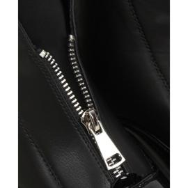 Botki lakierowane czarne NS178P Black 5