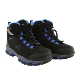 American Club American kozaki Softshell buty wodoodporne z membraną czarne niebieskie 4