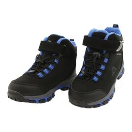 American Club American kozaki Softshell buty wodoodporne z membraną czarne niebieskie 2