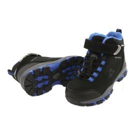 American Club American kozaki Softshell buty wodoodporne z membraną czarne niebieskie 3