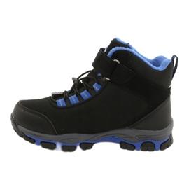 American Club American kozaki Softshell buty wodoodporne z membraną czarne niebieskie 1
