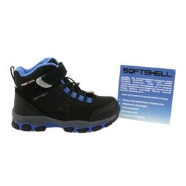 American Club American kozaki Softshell buty wodoodporne z membraną czarne niebieskie 5