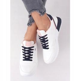 Buty sportowe damskie białe BK938 WHITE/BLUE granatowe 5