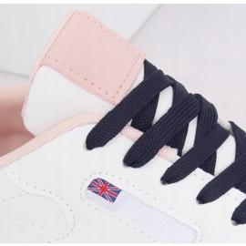 Buty sportowe damskie białe BK938 WHITE/BLUE granatowe 3