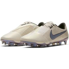 Buty piłkarskie Nike Phantom Venom Elite Fg AO7540 005 białe beżowy 3