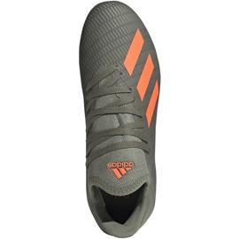 Buty piłkarskie adidas X 19.3 Fg Junior zielone EF8374 szare 1